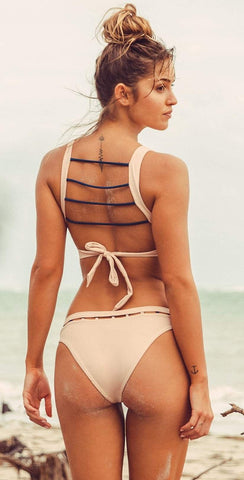 Bromelia Vivianne  Bikini Top in Carmel Ribbed