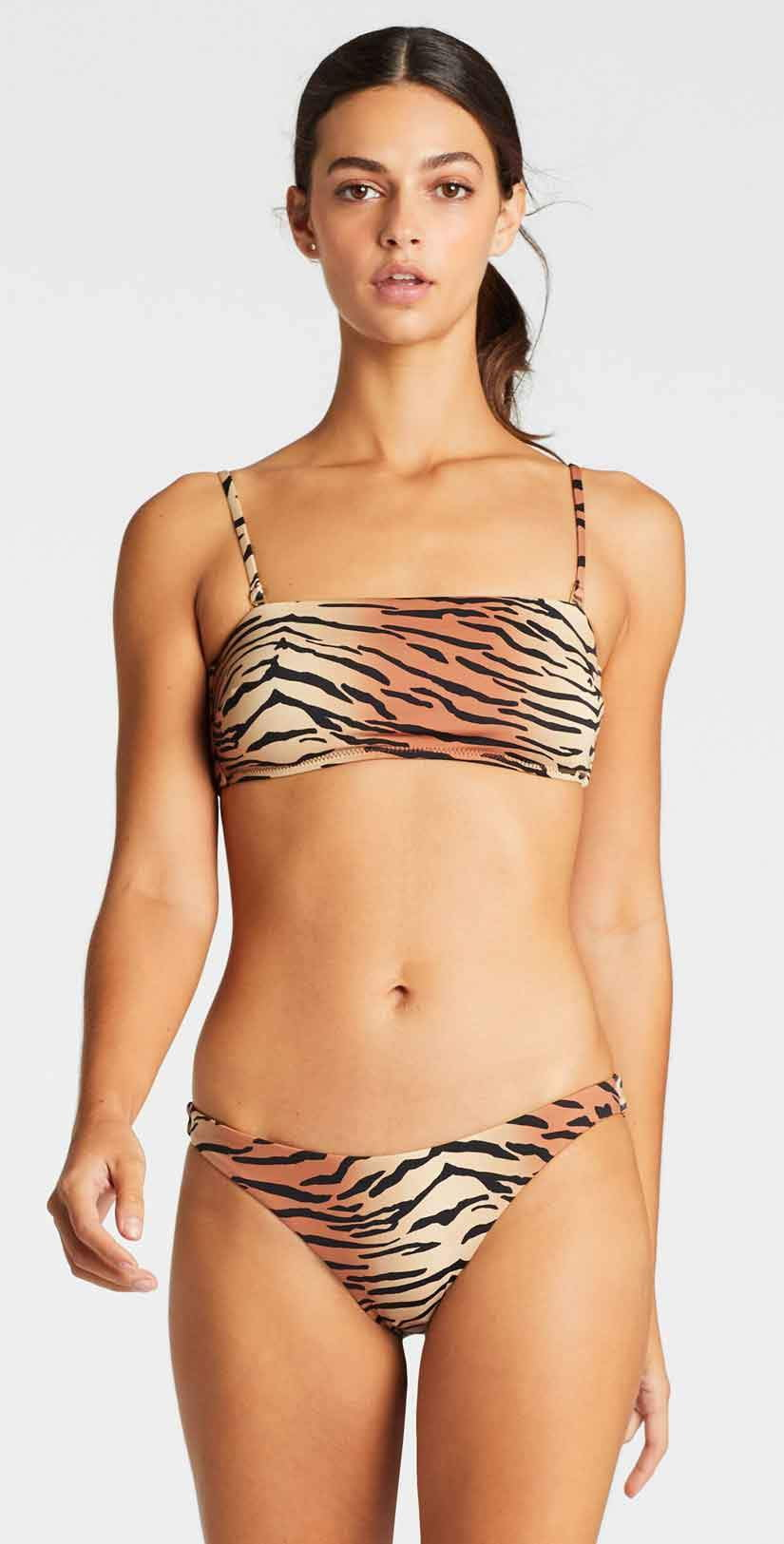 Vitamin A Mila Bandeau Top in Ziva: