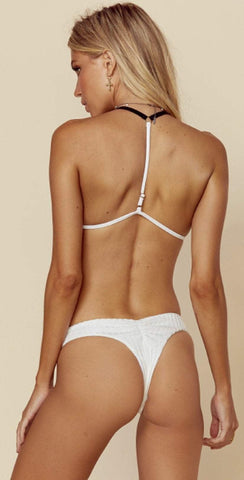 Blue Life Island Fever Brazilian Bottom in Diamond White 444-9020