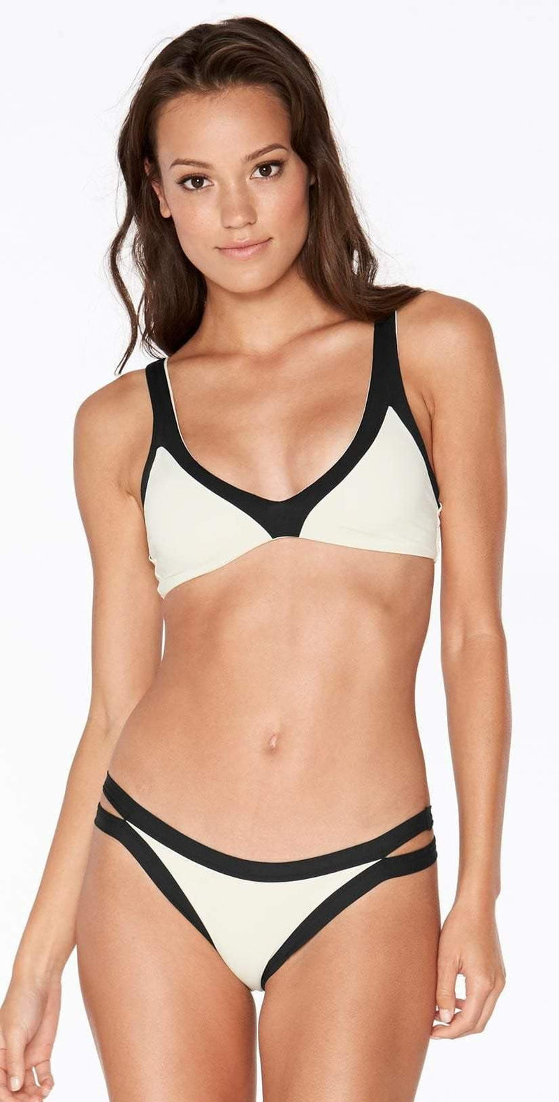 L Space Domino Misty Bralette Top in Cream CBMTT18-CRM: