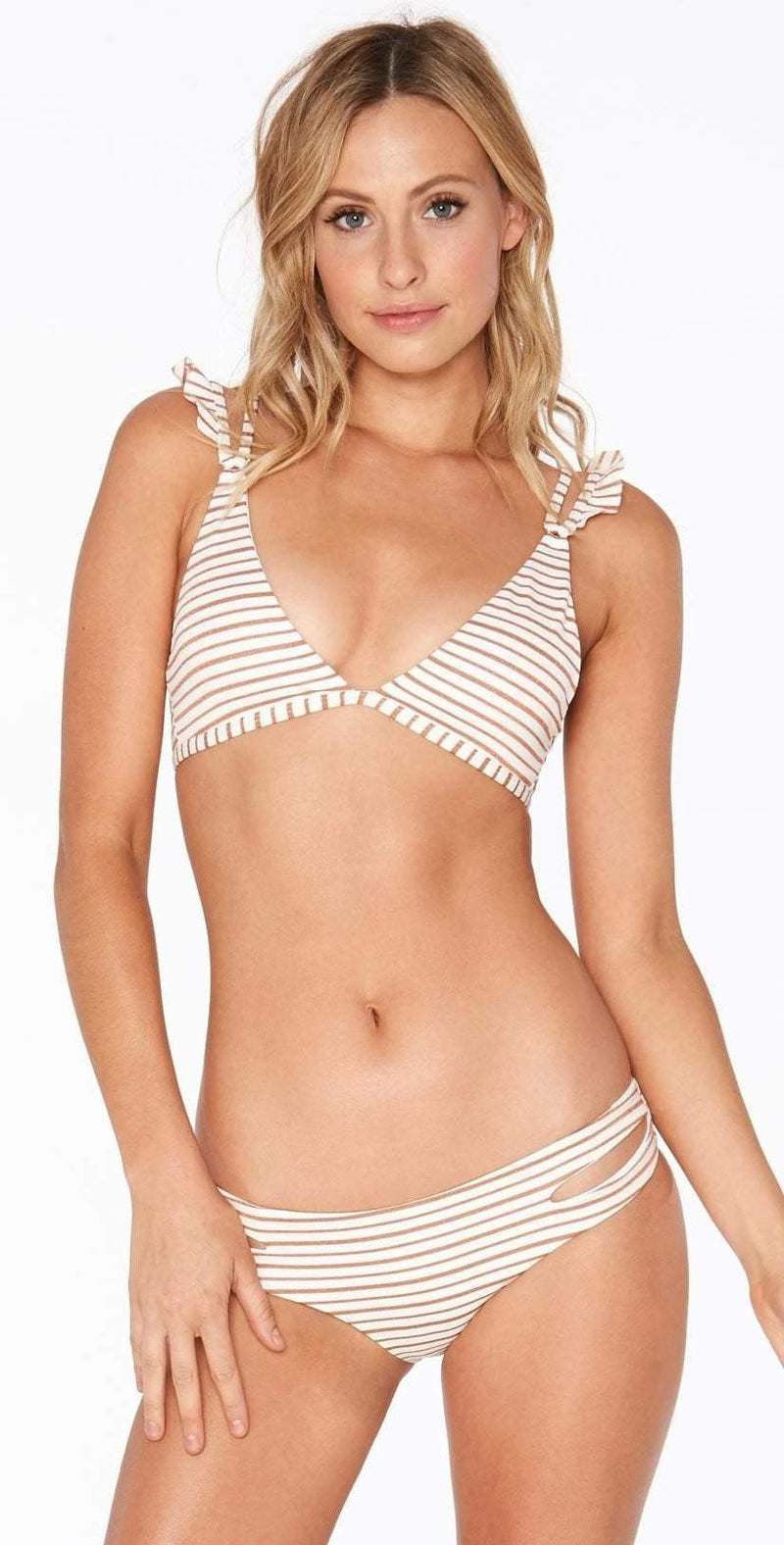 L Space Gold Horizon Estella Classic Cut Bottom GH32C18-WHT: