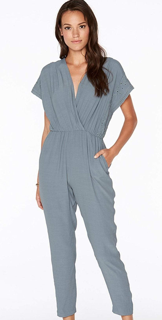 L Space Slated Glass Raquel Romper RAQJU18-SLG front studio