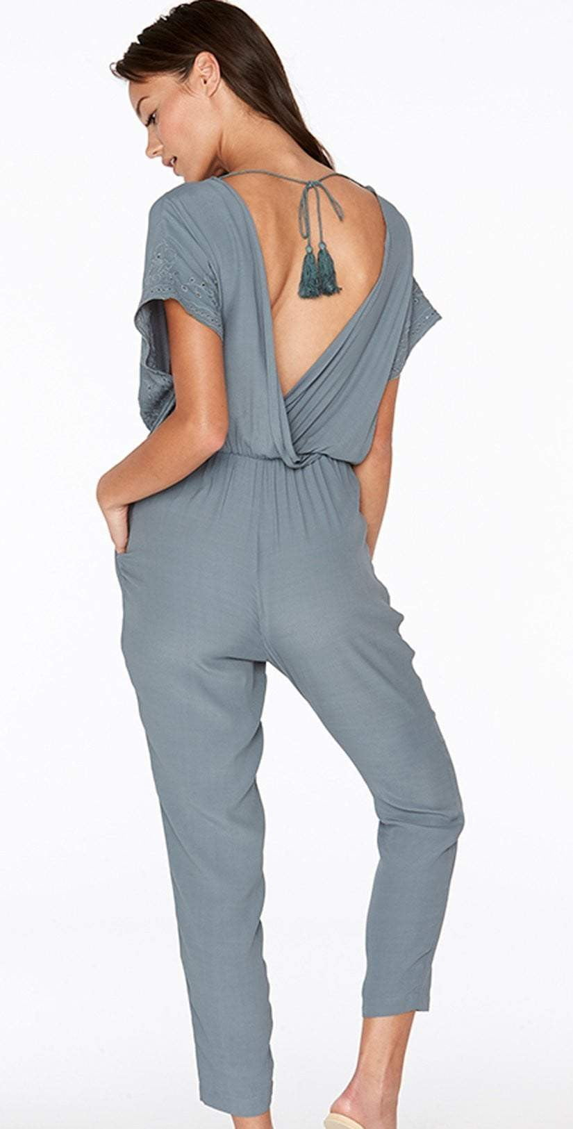 L Space Raquel Romper in Slated Glass RAQJU18-SLG: