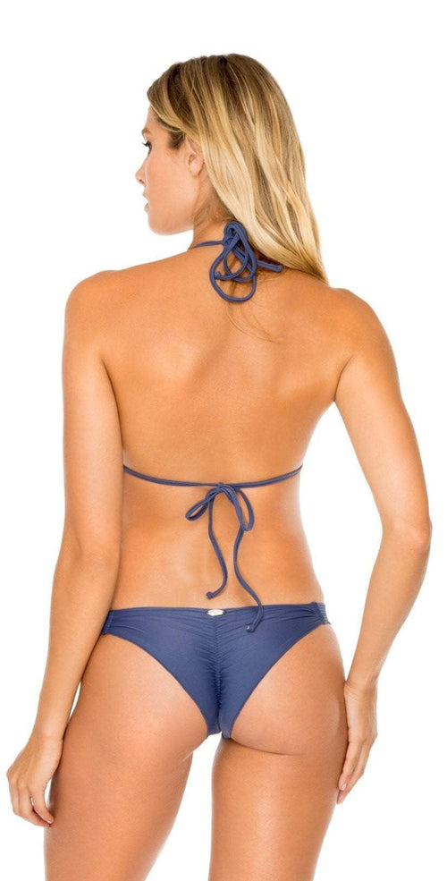 Luli Fama Cosita Buena Strappy Brazilian Ruched Back in Blue L17620 499: