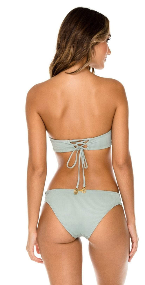 Luli Fama Orillas del Mar Underwire Bandeau in Green L500N61 480:
