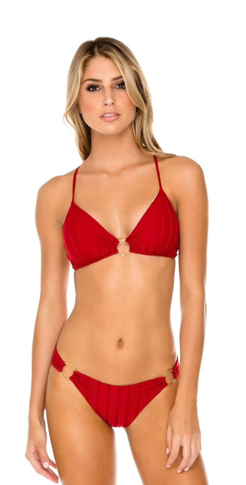 Luli Fama Turi Turai Ring Side Full Bottom in Red L581N36 475: