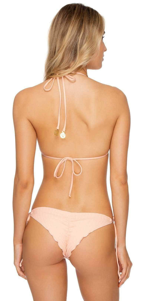 Luli Fama Jagged Bombshell Seamless Triangle Top in Peachin L62421P 493