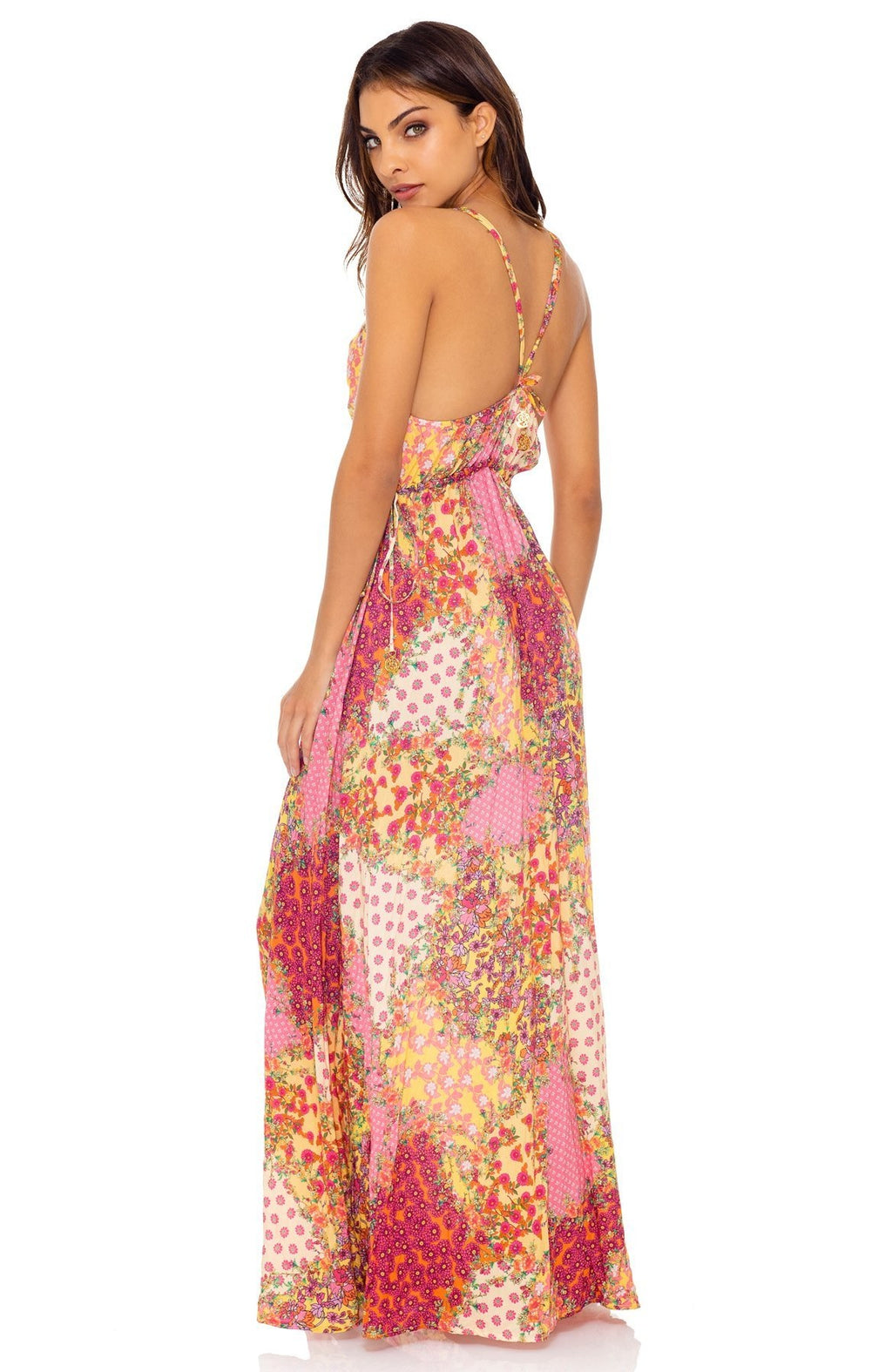Luli Fama Gypsy Dream V-Neck Long Dress