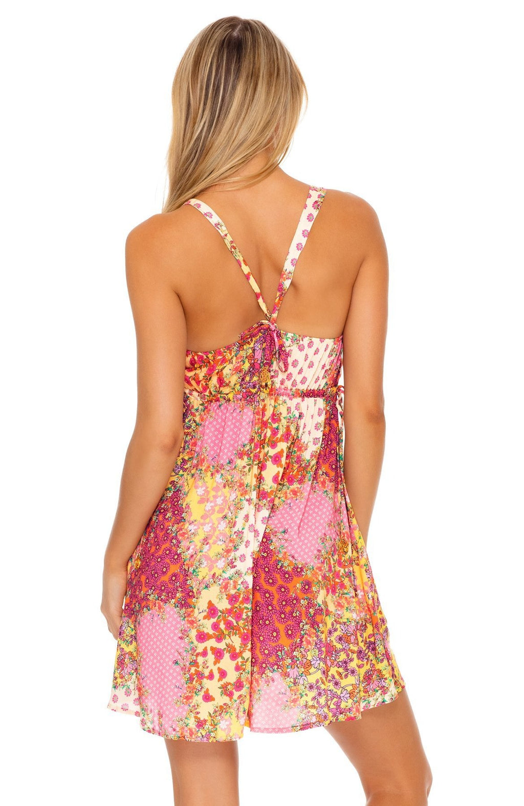 Luli Fama Gypsy Dream V-Neck Short Dress