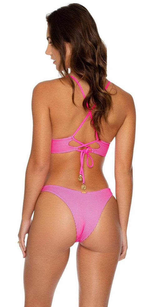 Luli Fama Luli Babe in Miami High Leg Bottom in Barbie Pink L633N50 516
