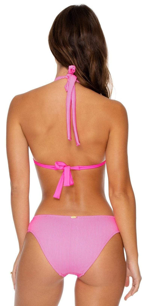Luli Fama Luli Babe in Miami Halter Top in Barbie Pink Back View
