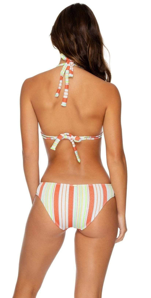 Luli Fama Playtime Triangle Halter Bikini Top L634N99 Multi back view