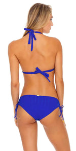 Luli Fama Last Fling Triangle Halter in Something Blue: