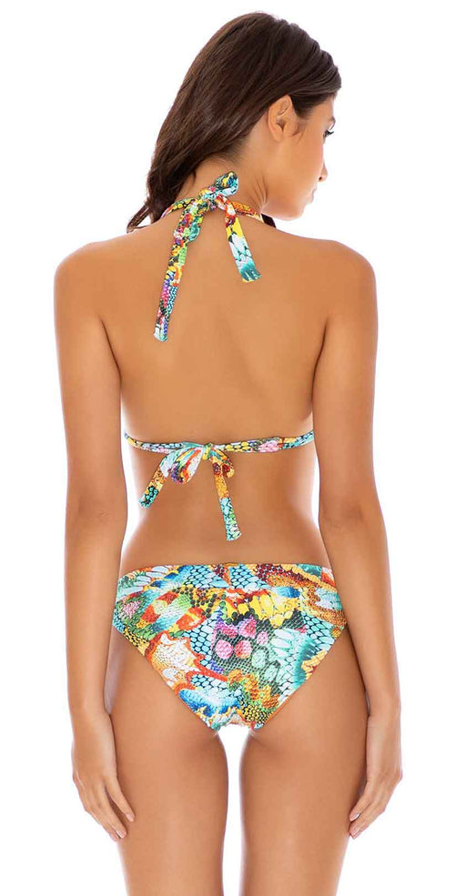 Luli Fama Just Wing It Triangle Halter Top in Multicolor