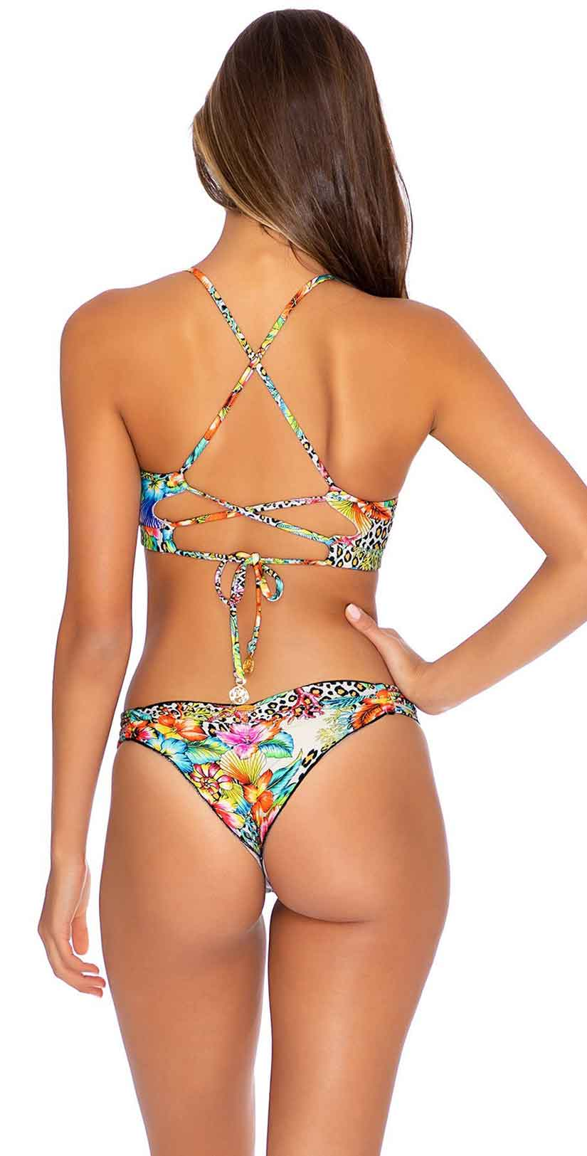 Luli Fama Luli's Jungle Underwire Top in Multicolor: