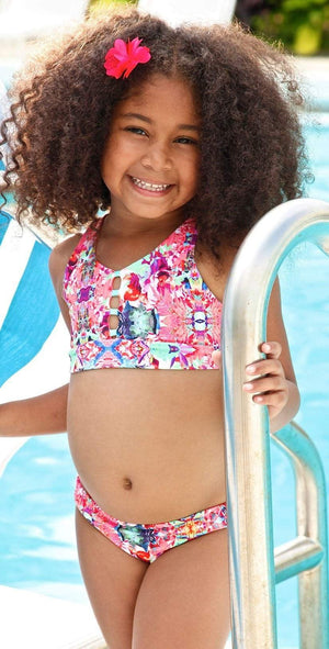 Little Peixoto Girls Jade Bikini Set In Island Garden 61701-P41: