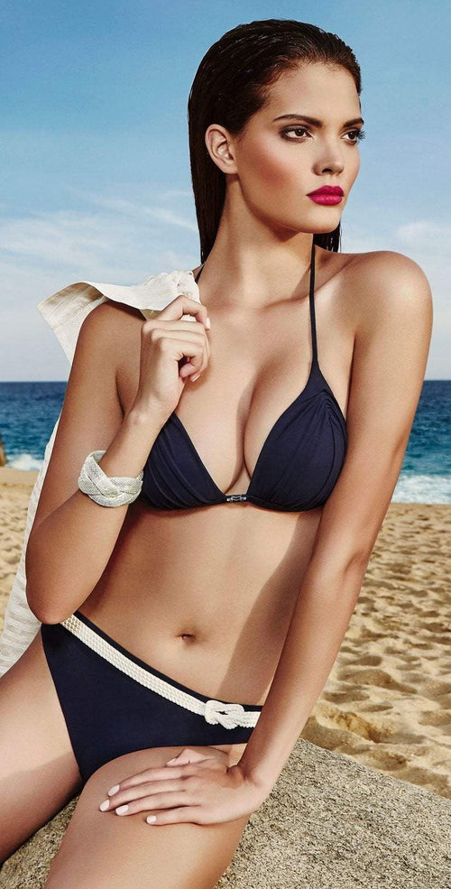 Maryan Mehlhorn Cruise Nautical Bikini Set in Navy 5680-508-044: