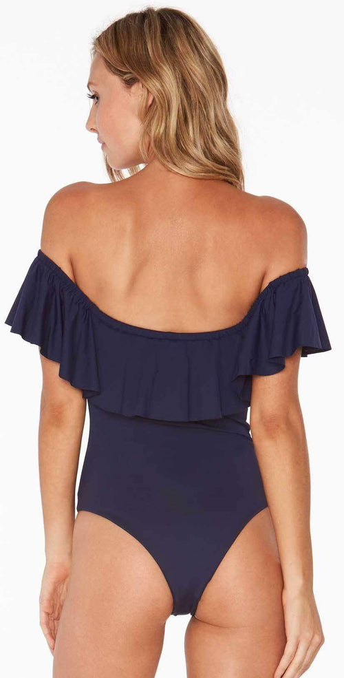 L Space Kimora One Piece in Midnight Blue MTKMM18-MDB back studio