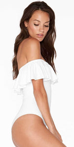 L Space Kimora One Piece in White MTKMM18-WHT: