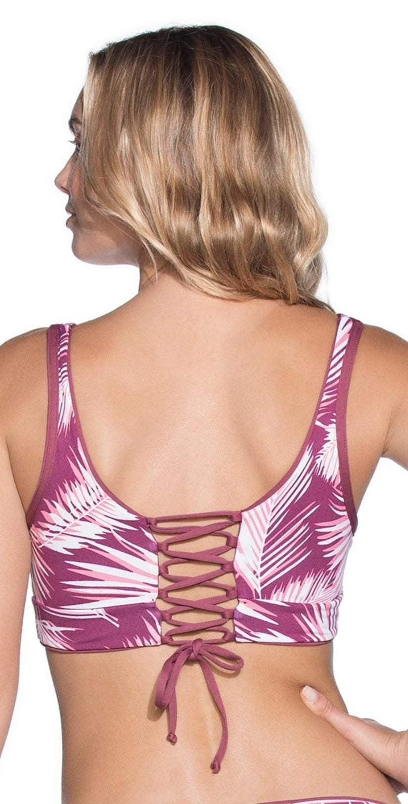 Maaji Amaranth Juneberry Allure Top 3012SFH02 Back View Print Side