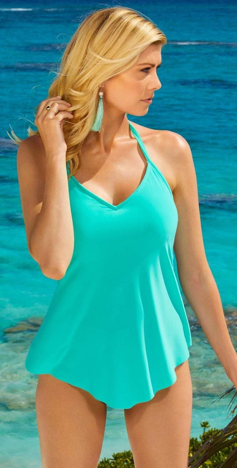 Magicsuit Gigi Tankini Top in Pool Blue 6003067-PBL: