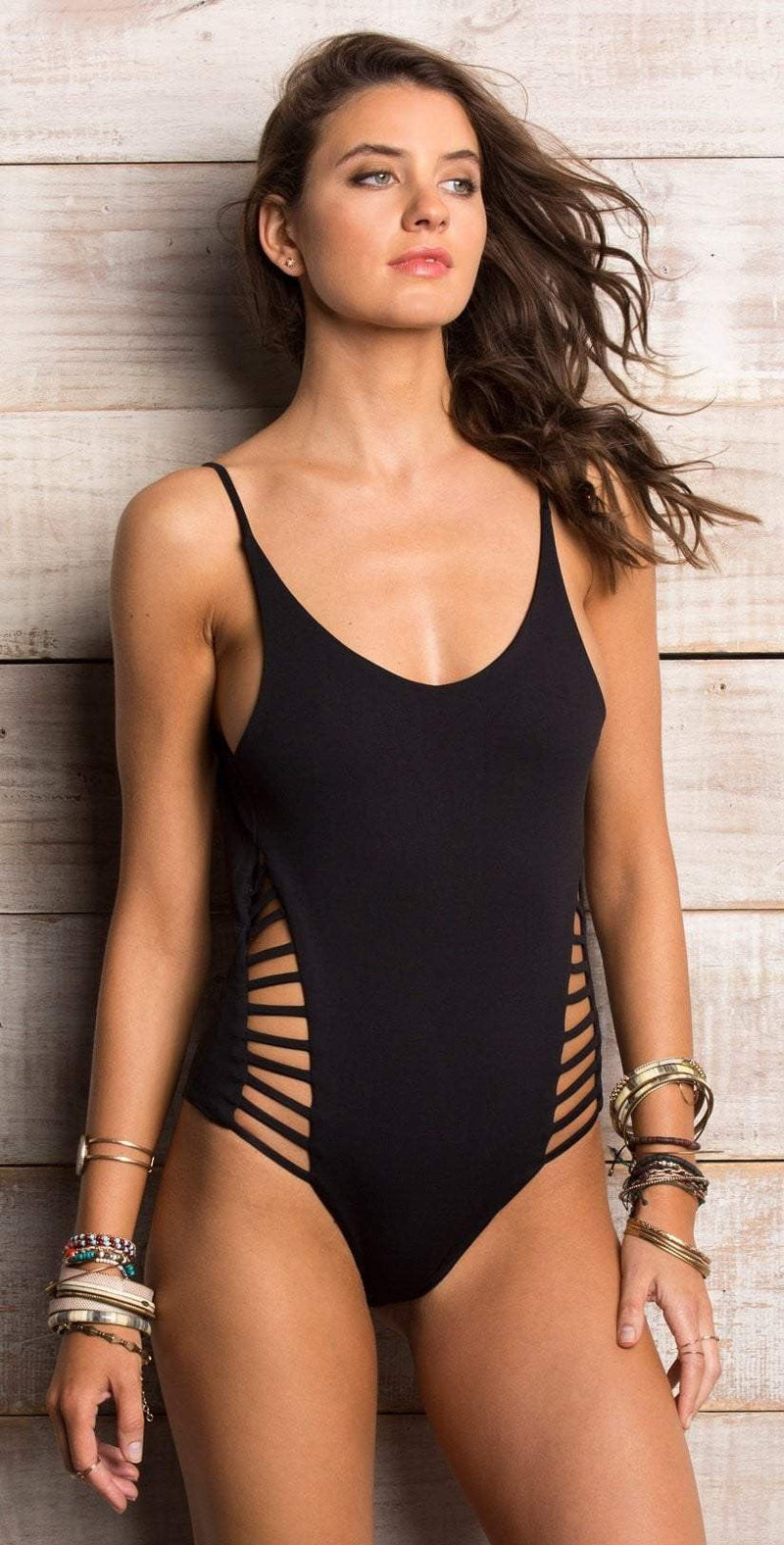 Maylana Lina Stripes Reversible One Piece OL17-E06-STR: