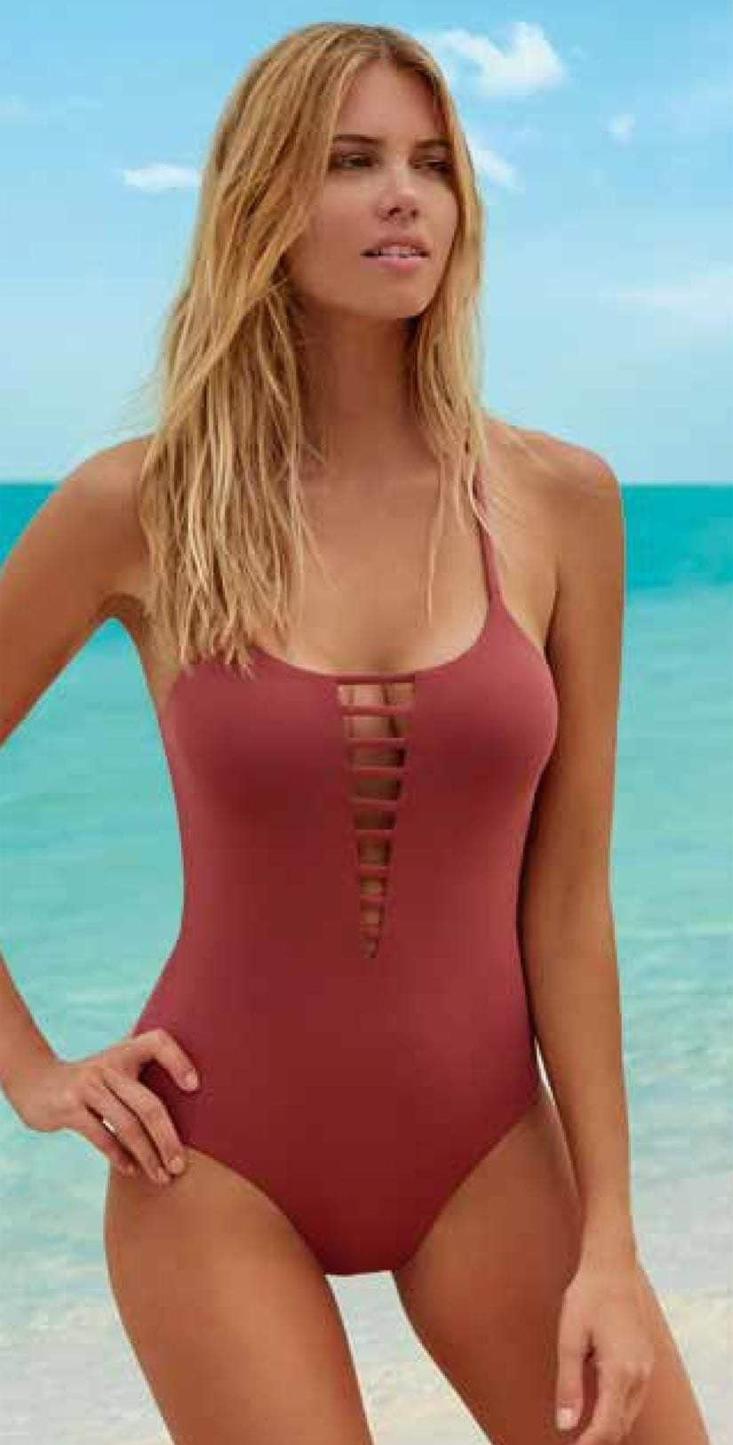 Melissa Odabash Formentera One Piece in Terracotta: