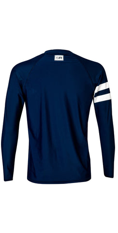 Snapperrock Men's Navy Arm Band Long Sleeve Rashguard M20053L
