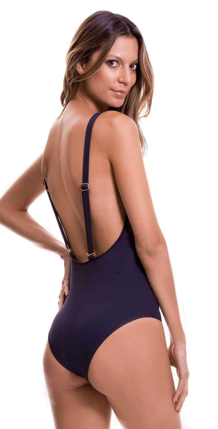 Milonga Shell Cutout One Piece in Black 070: