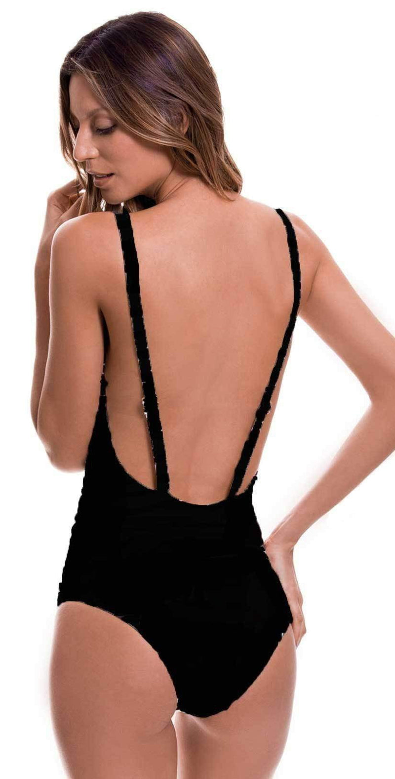 Milonga Basic Black Crochet One Piece 071: