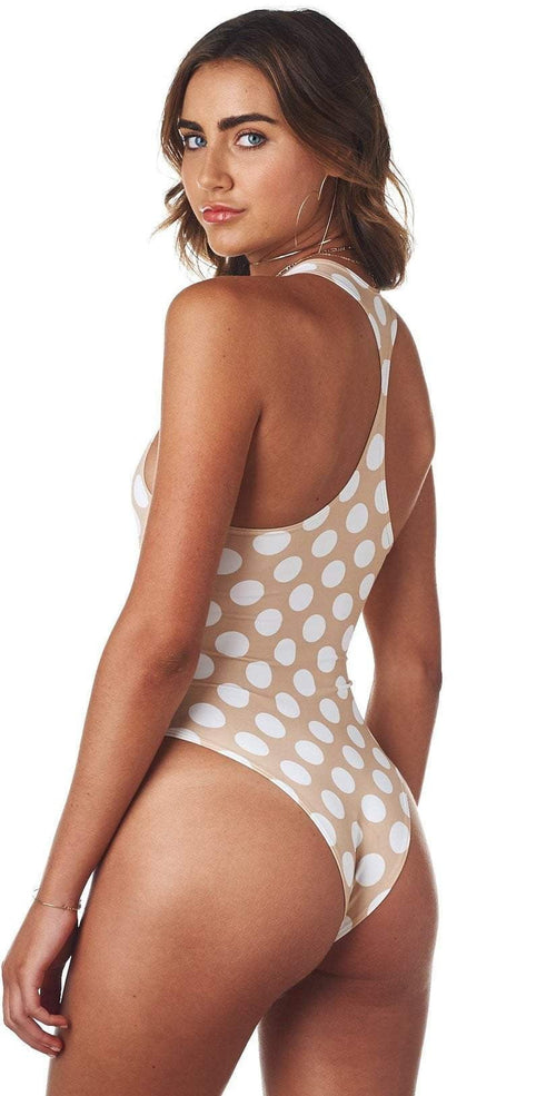 Montce Polly One Piece in Polka Dot back studio