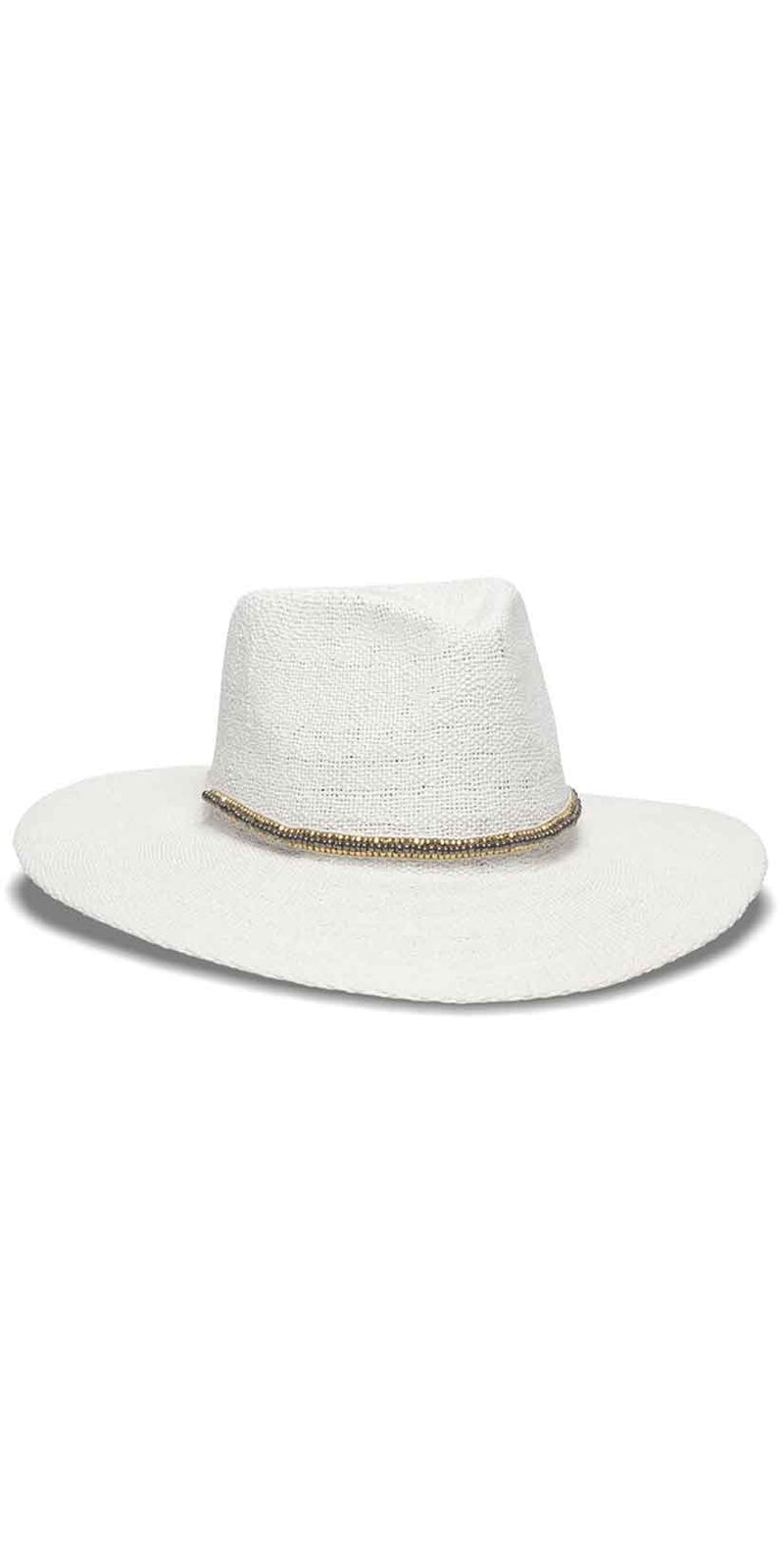 Nikki Beach Monte Carlo Hat in Black and White: