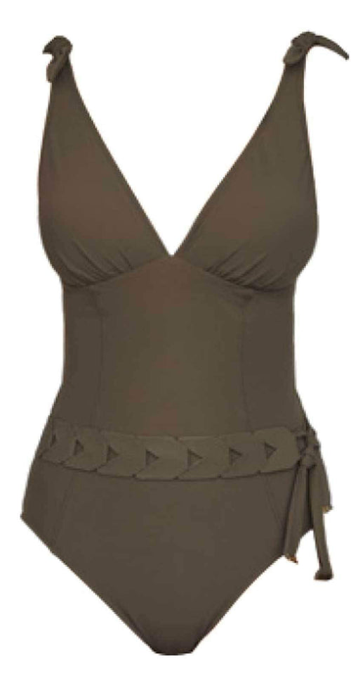 Nuria Ferrer Bruna Khaki one piece cut out