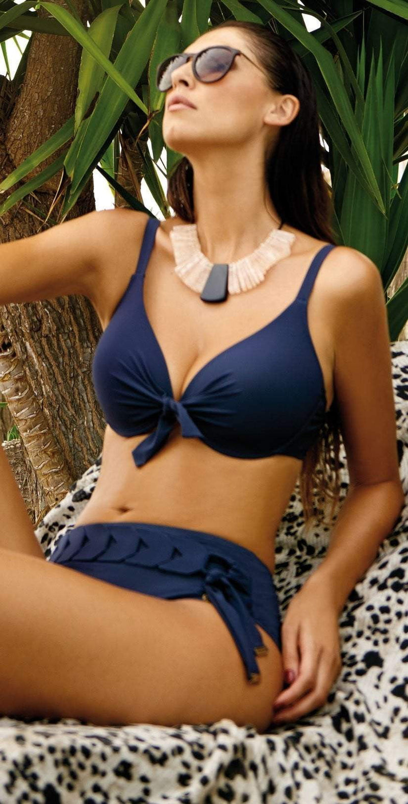 Nuria Ferrer Bruna Belted Bikini Bottom in Blue 66-2: