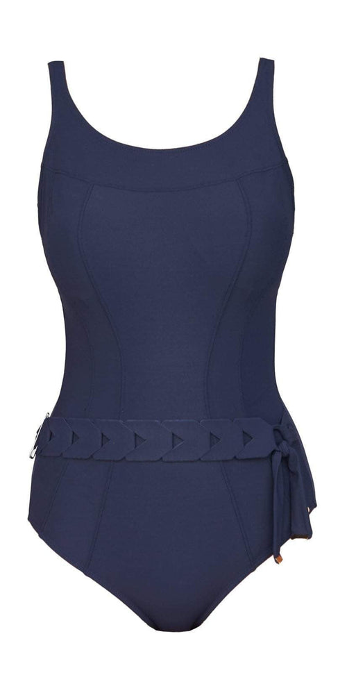 Nuria Ferrer navy mastectomy bathing suit