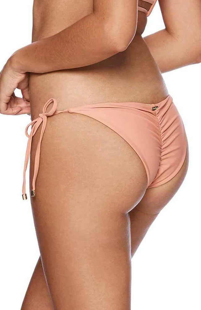 Beach Bunny Piper Skimpy Bikini Bottom In Whiskey Rose