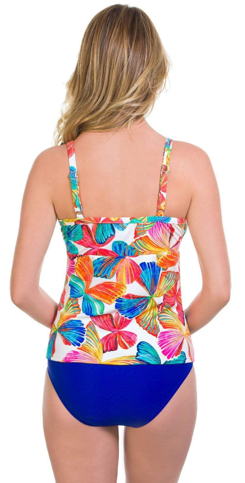 Penbrooke Flutter Glam Bodice Tankini Top Back View