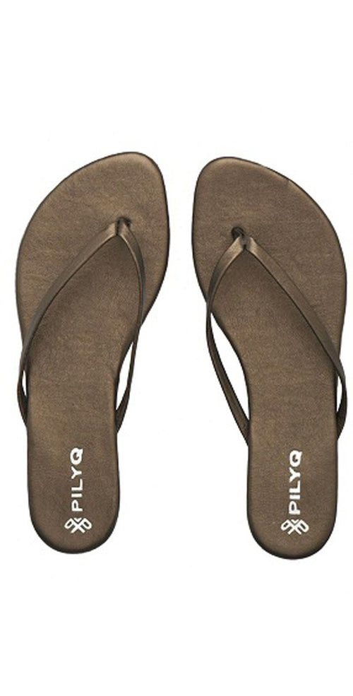 PilyQ Solid Bronze Sandals FFC001-BRNZ: