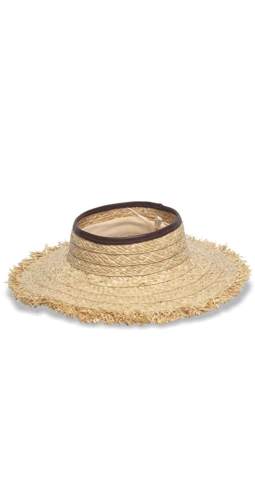 Nikki Beach Porto Heli Hat in Natural/Brown: