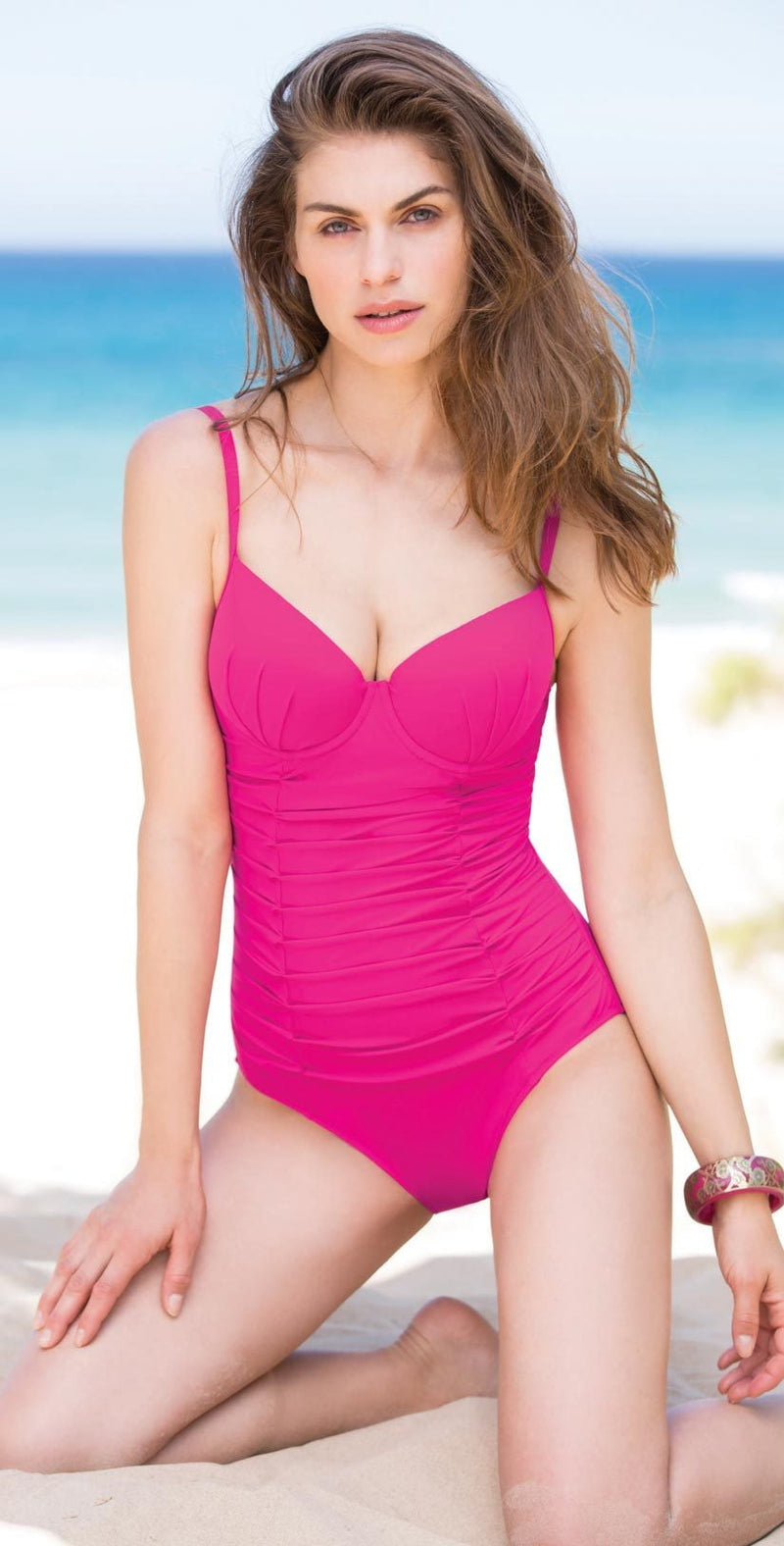 Profile by Gottex Origami Underwire One Piece in Pink E844-2056-651: