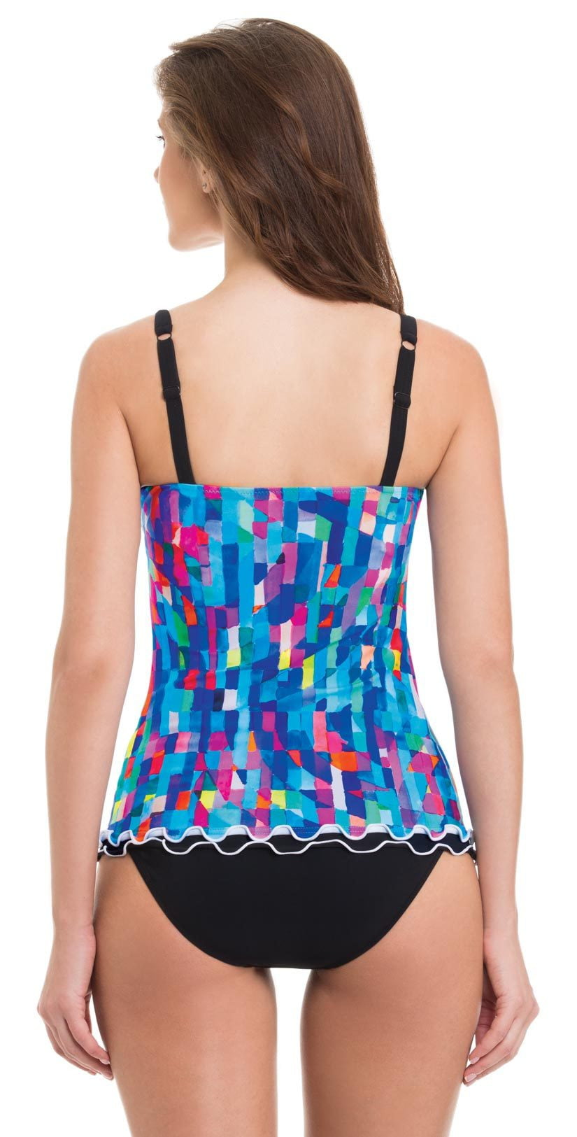Profile by Gottex Serendipity D-Cup Tankini Top Back View