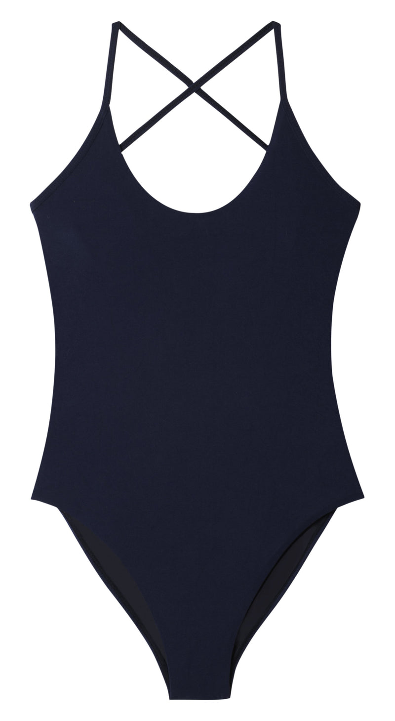 PilyQ Starlight Starry Farrah One Piece in Navy STL-508P: