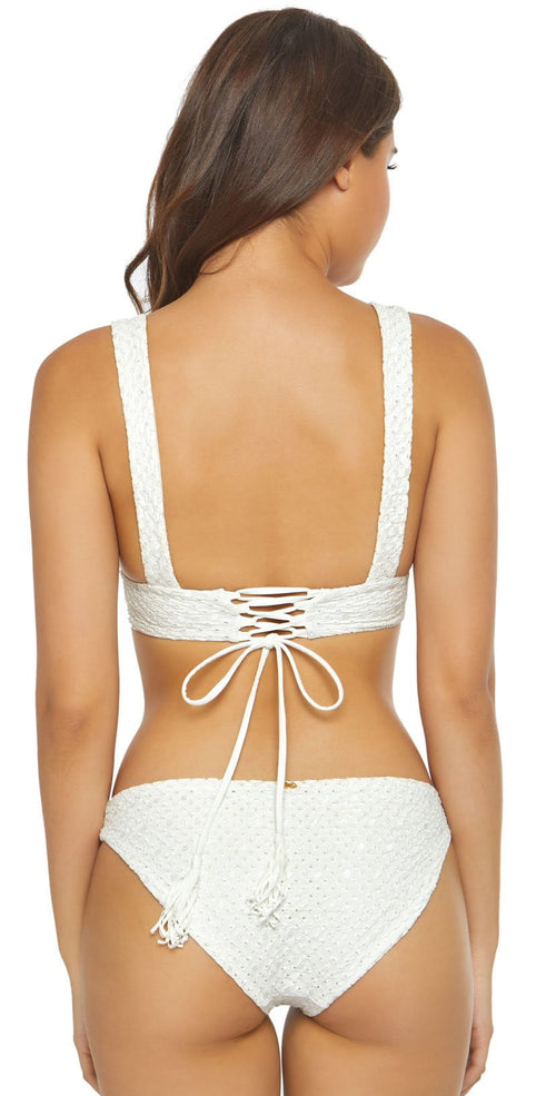 PilyQ Eyelet White Basic Bottom in Full Cut EYE 203F back studio