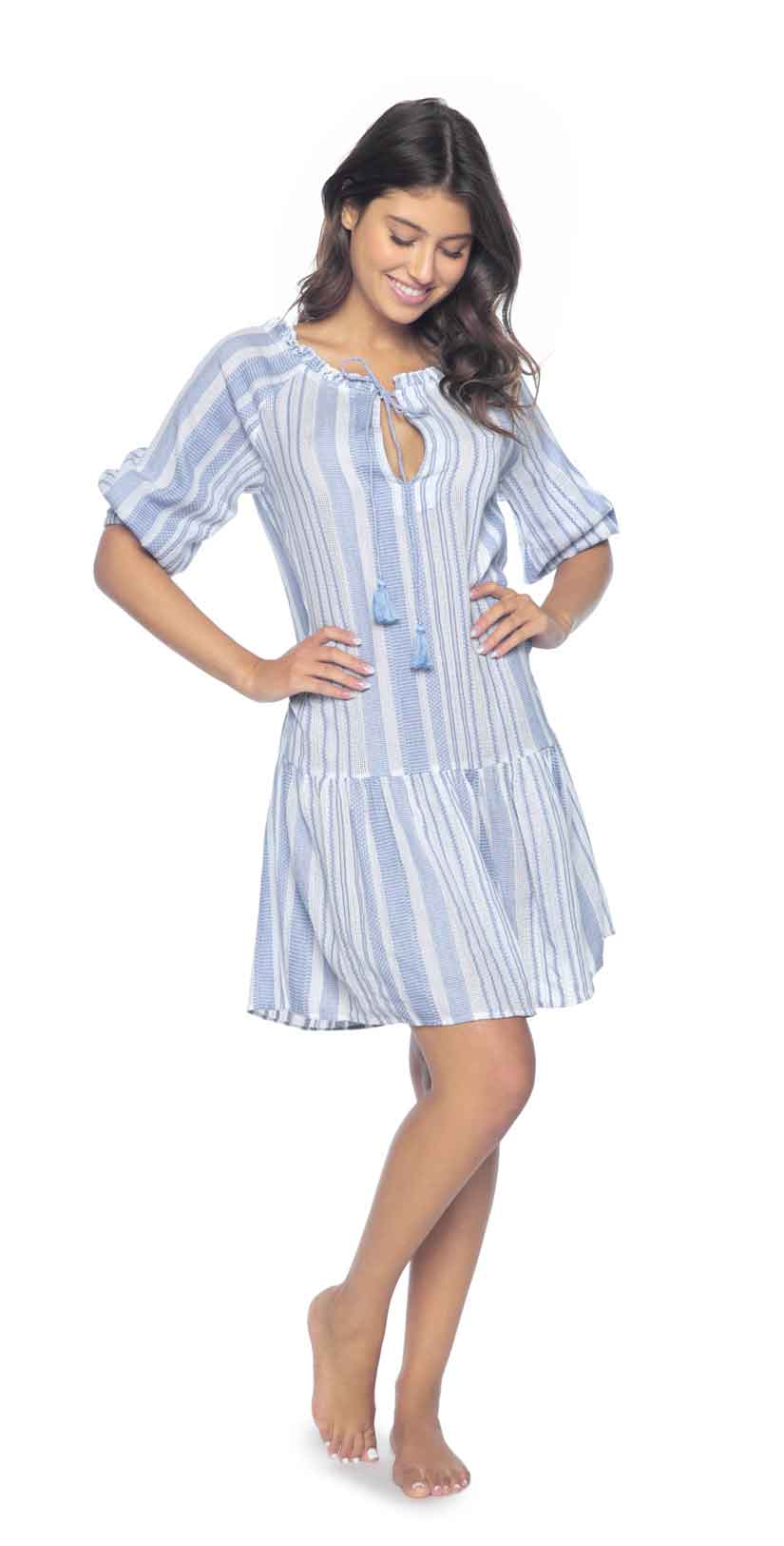 PilyQ Bay Stripe Bella Tunic: