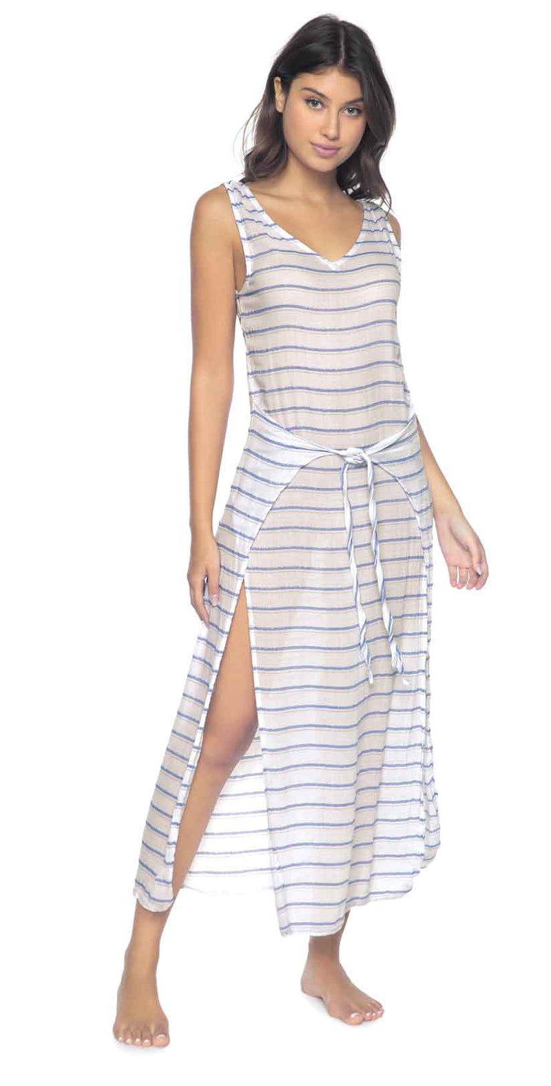 PilyQ Bay Stripe Sophie Tie Dress: