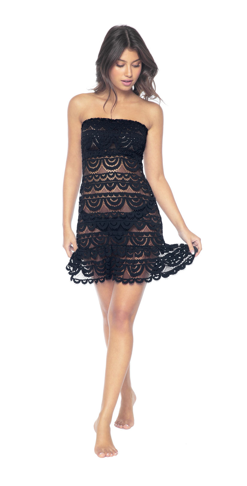 PilyQ Smocked Tube Dress  front