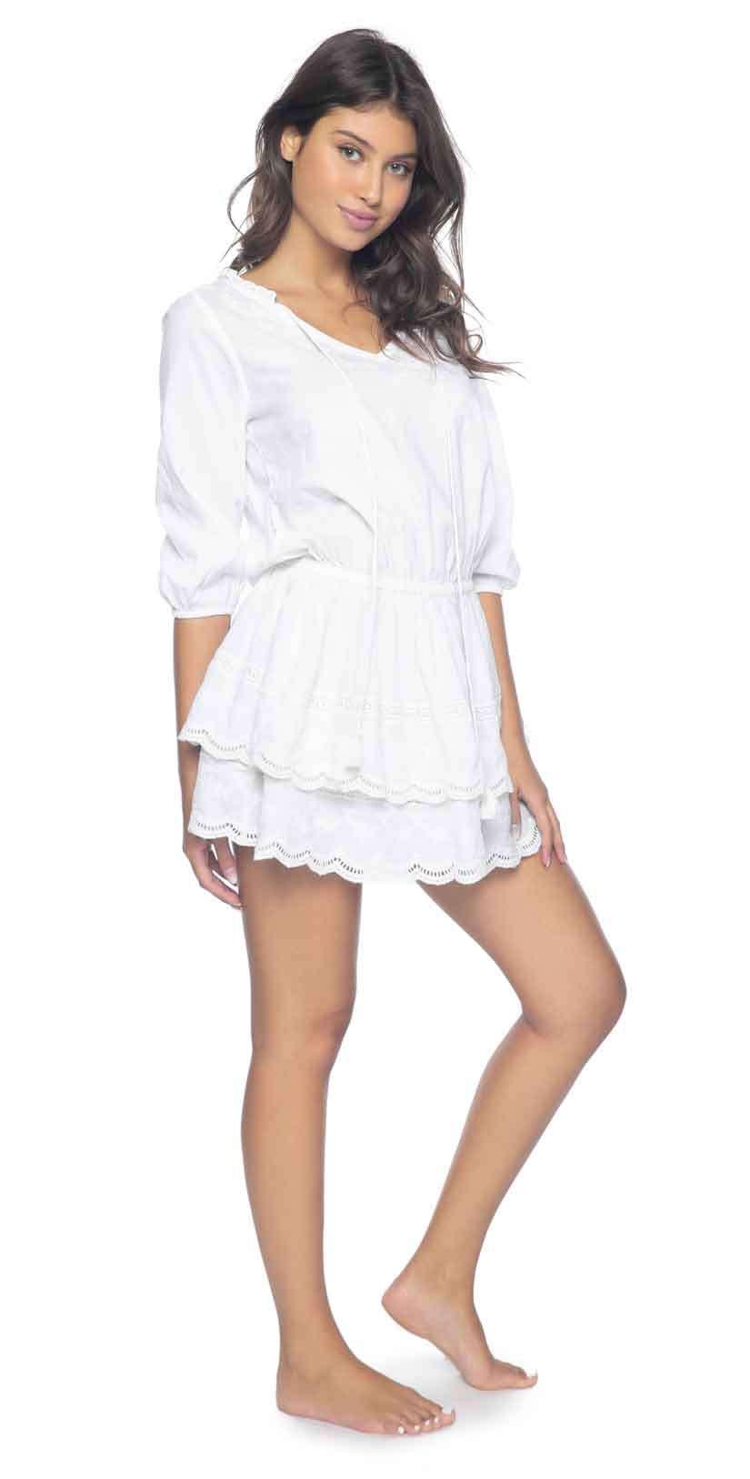 Pily Q White Lily Rebecca Ruffle Dress: