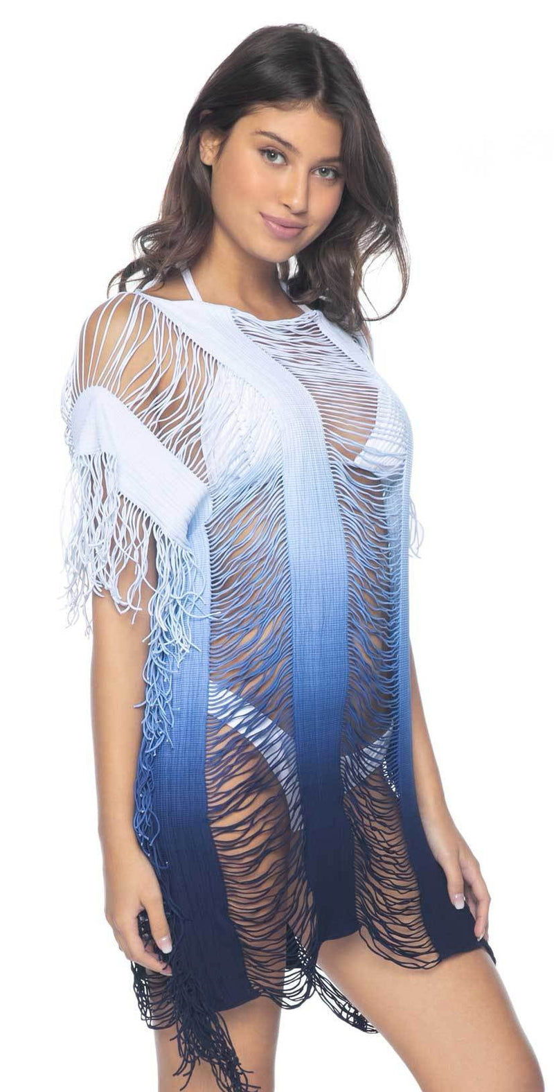 PilyQ Island Blue Monique Cover Up in Blue Ombre: