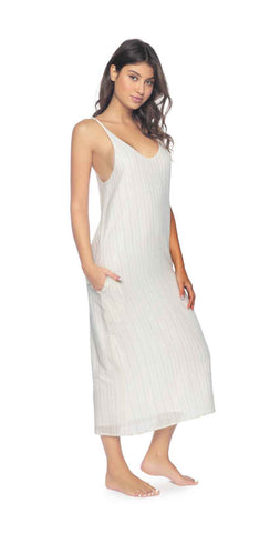 PilyQ Gold Stripe Royce Midi Dress
