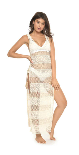 PilyQ White Lily Joy Lace Cover Up: